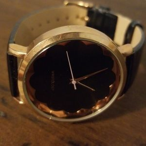 NWOT Wristology rose gold and black watch